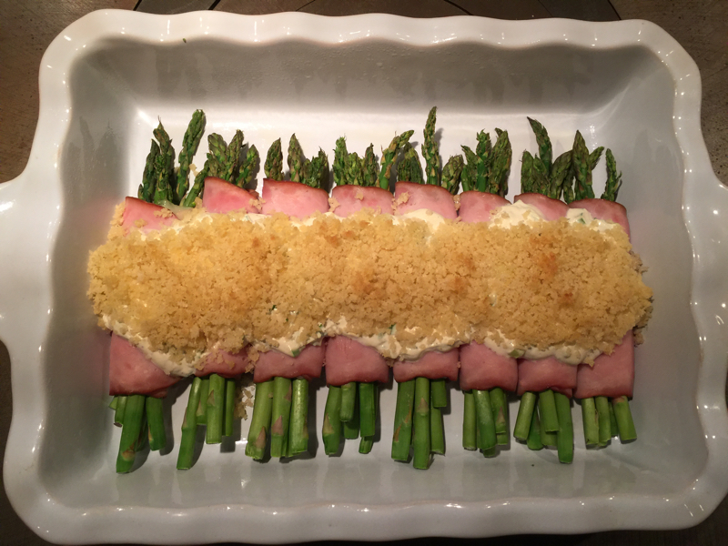 ham and asparagus roll ups